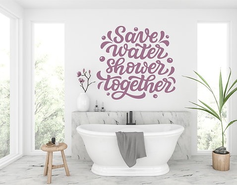 """Vinilo decorativo """"save water"""""""