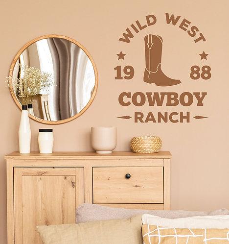 "Vinilo decorativo ""wild west"""