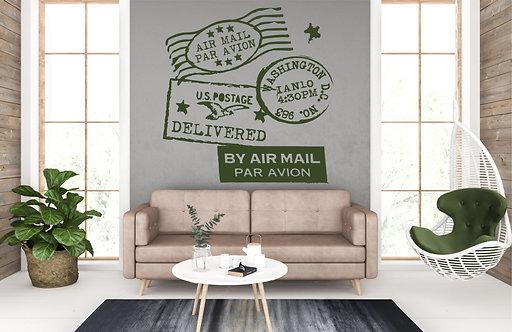 "Vinilo decorativo ""air mail"""