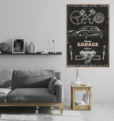 "Vinilo impreso ""garage"""