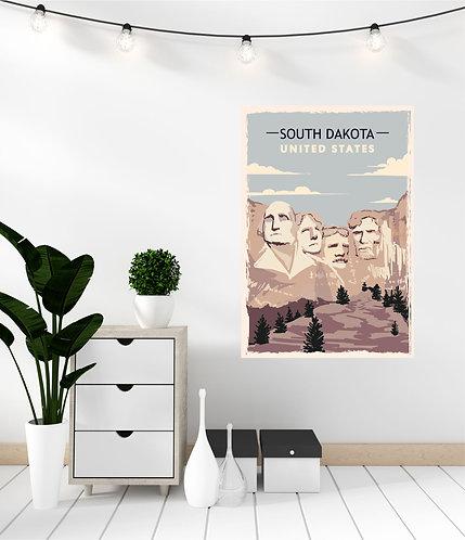 """Vinilo impreso """"South Dakota"""""""