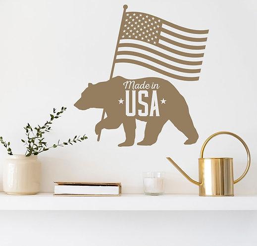 "Vinilo decorativo ""USA bear"""