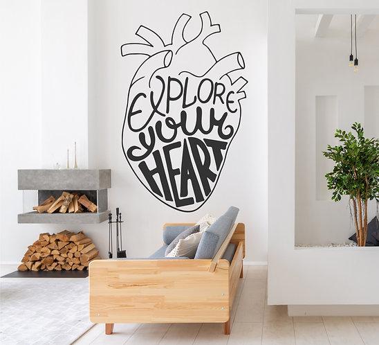 """Vinilo decorativo """"heart"""""""
