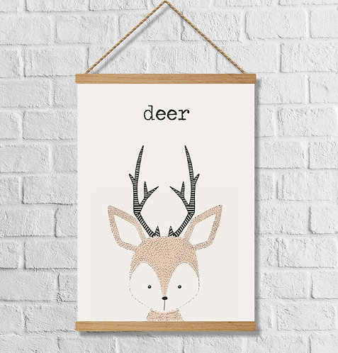 "Cuadro Lienzo ""deer"""