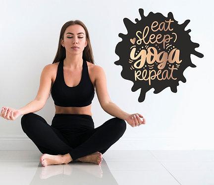 """Vinilo impreso """"yoga repeat"""""""