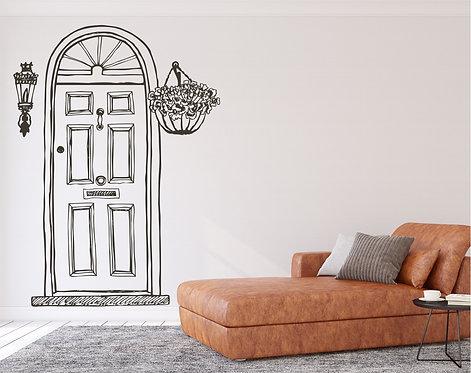 "Vinilo decorativo ""puerta"""