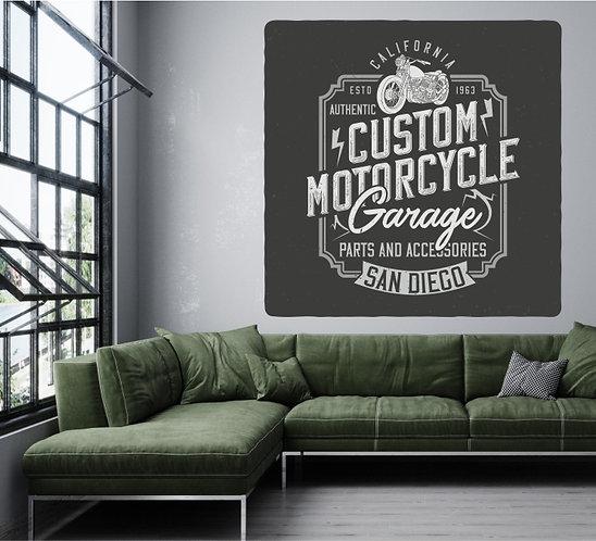 "Vinilo impreso ""motorcycle"""