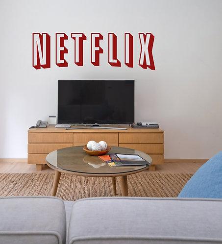 """Vinilo decorativo """"Netflix"""""""