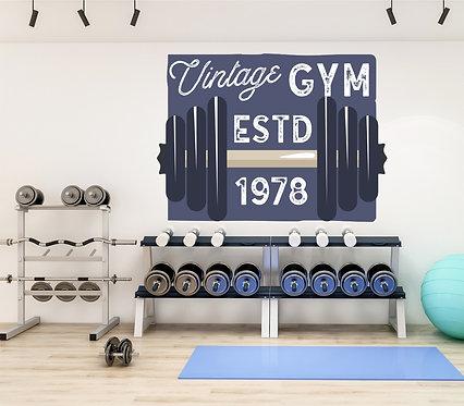 "Vinilo impreso ""vintage gym"""