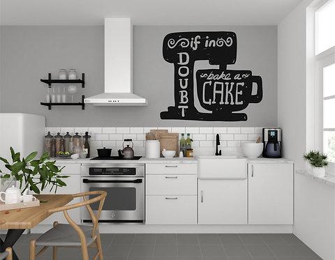"Vinilo decorativo ""bake a cake"""