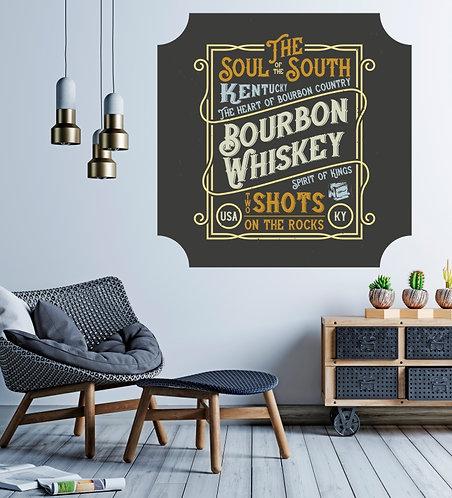 """Vinilo impreso """"whiskey"""""""