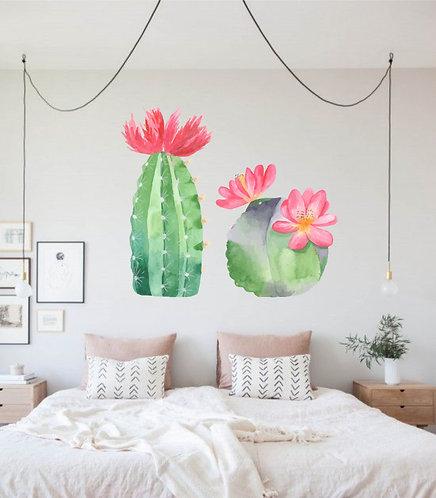 "Vinilo impreso ""cactus flor"""