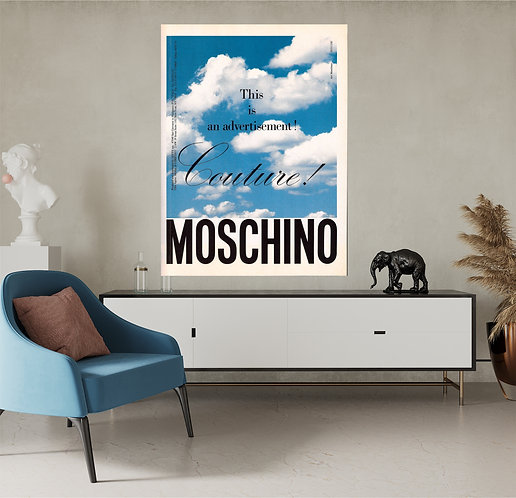 "Vinilo impreso ""Moschino"""
