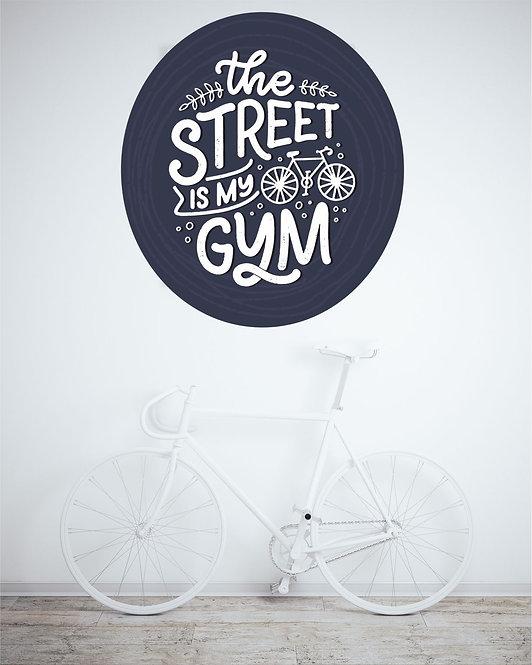 "Vinilo impreso ""street gym"""