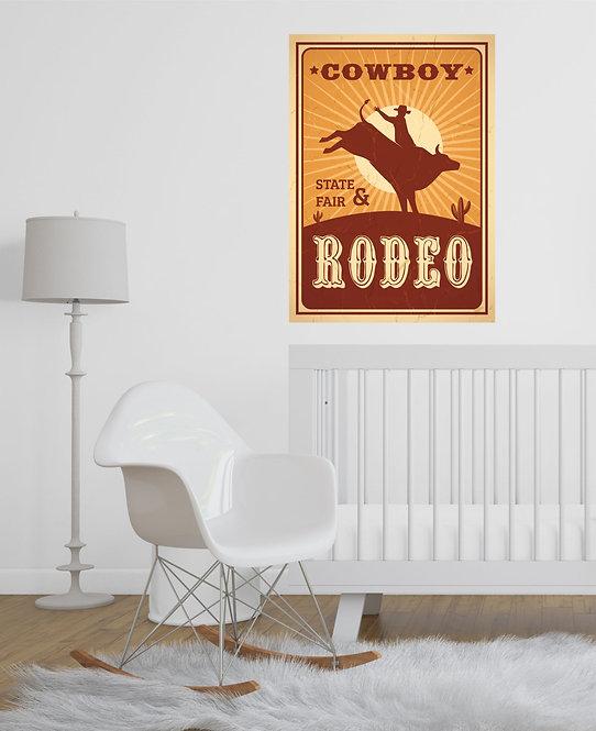 "Vinilo impreso ""cowboy rodeo"""