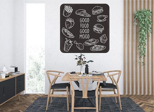 "Vinilo impreso ""food mood"""
