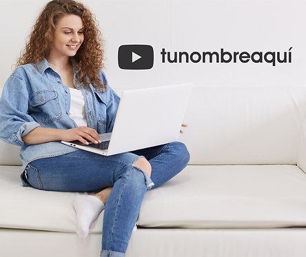 Vinilo personalizar youtube
