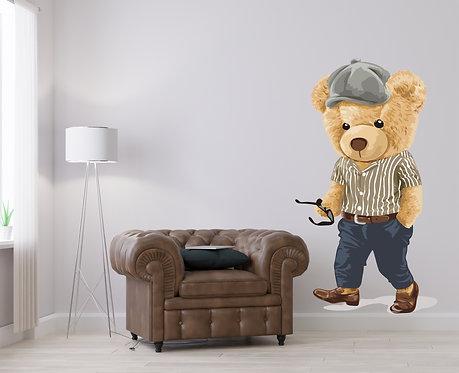 "Vinilo impreso ""oso elegante"""