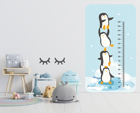 """Vinilo impreso """"metro pingüino"""""""
