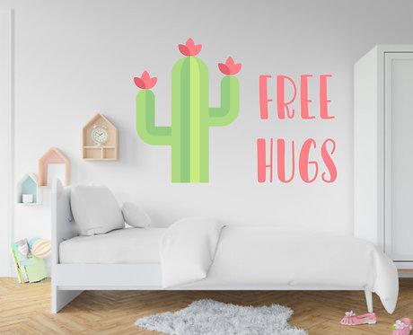 """Vinilo decorativo """"free hugs"""""""