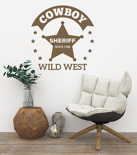 "Vinilo decorativo ""sheriff"""