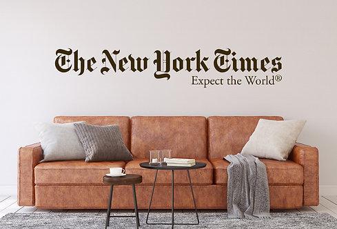 """Vinilo decorativo """"NY times"""""""