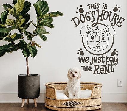 "Vinilo decorativo ""dog house"""