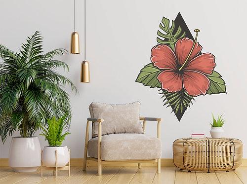"Vinilo impreso ""flor tropical"""