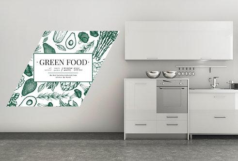 "Vinilo impreso ""green food"""
