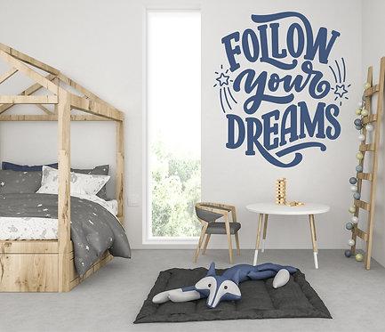 """Vinilo decorativo """"dreams"""""""