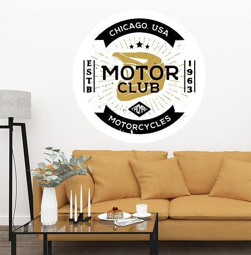 "Vinilo impreso ""motor club"""
