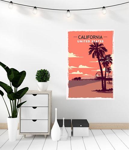 "Vinilo impreso ""California"""