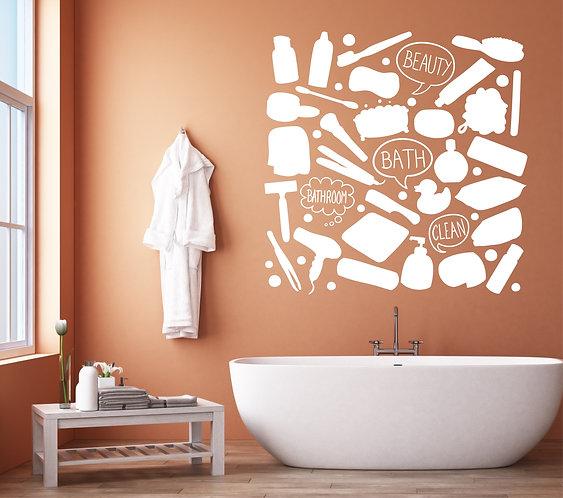 """Vinilo decorativo """"bath collage"""""""