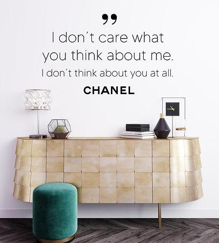 """Vinilo decorativo """"Chanel"""""""