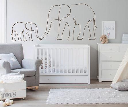 """Vinilo decorativo """"elefantes"""""""