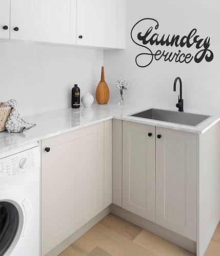 """Vinilo decorativo """"laundry service"""""""