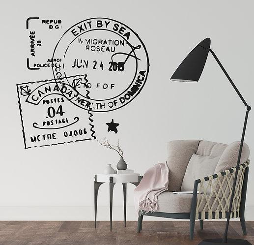 """Vinilo decorativo """"stamps"""""""