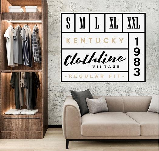 "Vinilo impreso ""Clothline"""