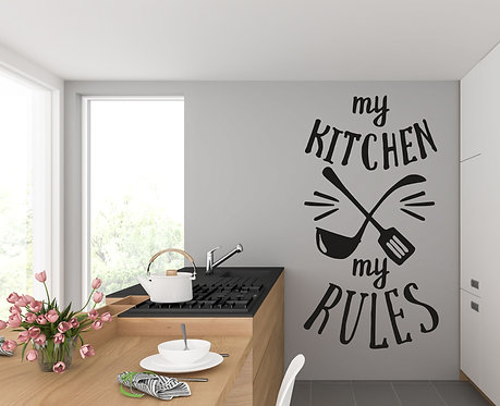 "Vinilo decorativo ""kitchen rules"""
