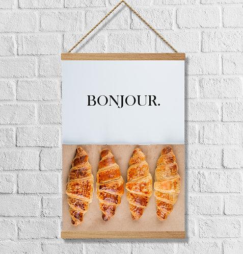 "Cuadro Lienzo ""croissant"""
