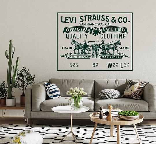 "Vinilo decorativo ""Levi Strauss"""