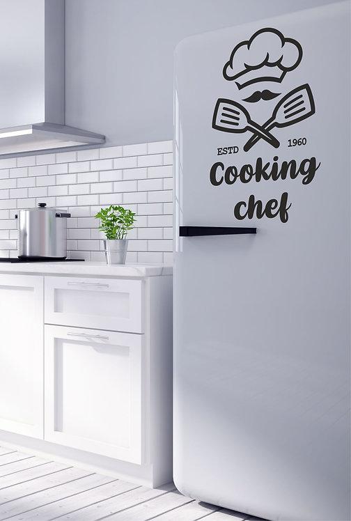 """Vinilo decorativo """"cooking chef"""""""