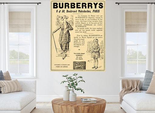 "Vinilo impreso ""Burberry"""