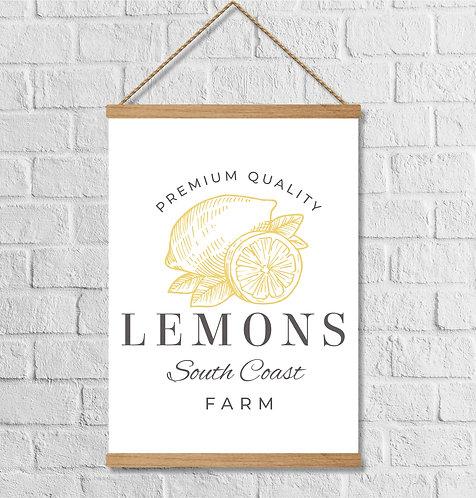 """Cuadro Lienzo """"lemons"""""""