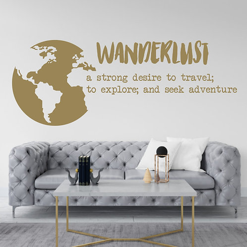 "Vinilo decorativo ""wanderlust"""