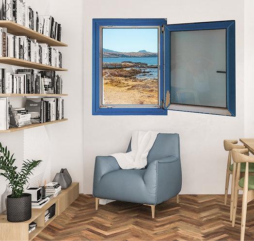 "Vinilo impreso ""ventana playa"""