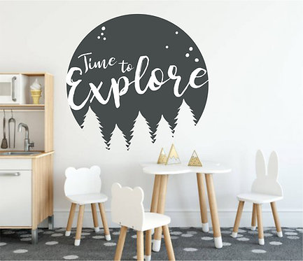 """Vinilo decorativo """"explore"""""""