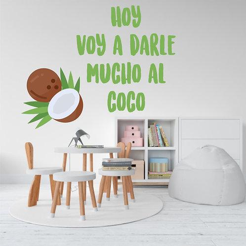 """Vinilo decorativo """"coco"""""""