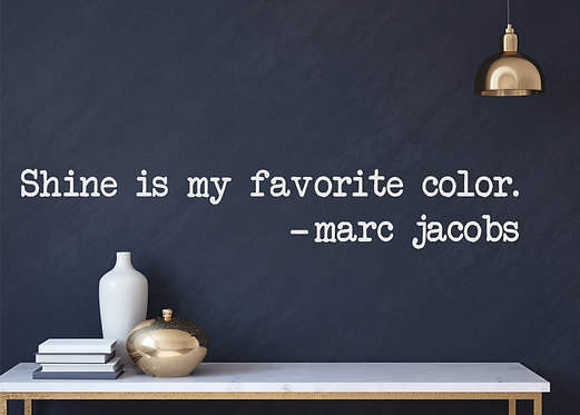 "Vinilo decorativo ""Marc Jacobs"""