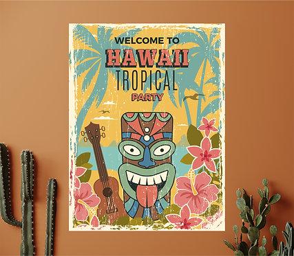 """Vinilo impreso """"hawaii"""""""